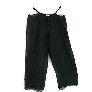 Victoria Secret Very Sexy Black Sheer Pants